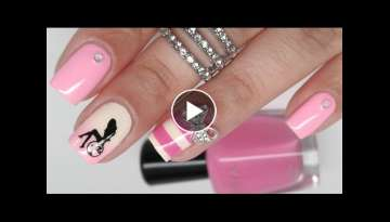 Barbie Birthday Nail Art