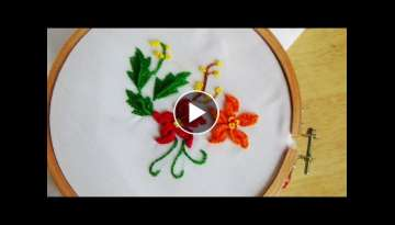 Hand Embroidery: Flower For Pillow Case Stitch