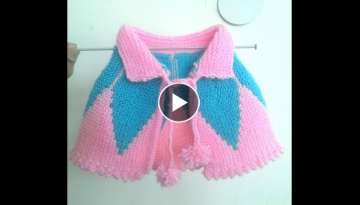 Pounchu/ Shrug in Hindi Knitting