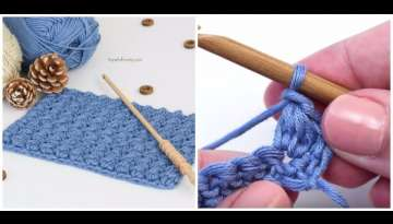 Watch how to crochet the even berry stitch (video and written instructions)