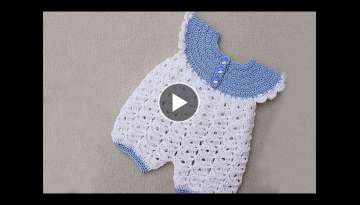 Baby rompers crochet very easy . Majovel crochet