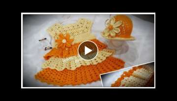 How To Crochet Baby Frill Frock (part 1)