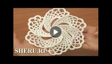 Crochet Asymmetrical Petal Flower