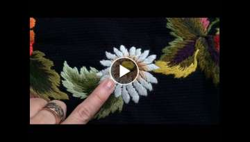 Embroidery on the wall: Camomile