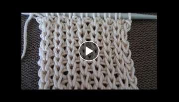 Pletenje - 1 patent bod | Knitting Tutorial - False English rib