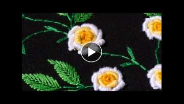 Embroidery designs by hand DIY Stitching Tutorial | HandiWorks #107