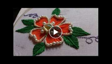 Hand embroidery designs. Hand embroidery for beginners. Flower stitch design.