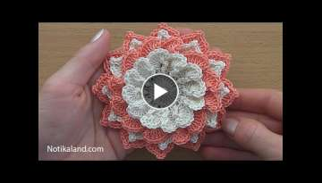Crochet Flower Tutorial #4 VERY EASY