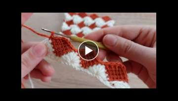 Very beautiful crochet blanket pattern that you can use both sides of crochet how to crochet knit...
