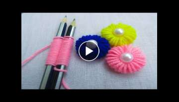 Hand Embroidery Amazing Trick - Sewing Hack - Easy Hand Embroidery Trick