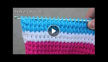 HOW to TUNISIAN CROCHET - Beginner Tunisian, Tunisia, Afghan Simple Stitch, TSS, Tunecino