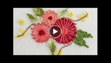 Embroidery Flower by Hand: Easy DIY for clothes by HandiWorks