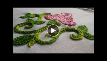 Embroidery Flower | Braided Chain Stitch by Hand | HandiWorks #8