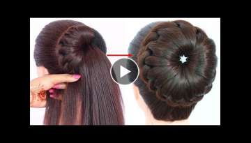 new bun hairstyle for wedding and party || trending hairstyle || party hairstyle || updo hairstyl...