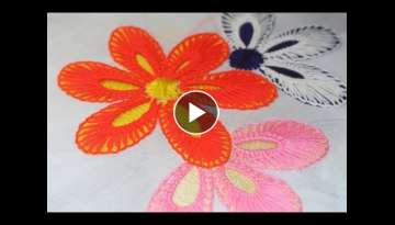 Hand Embroidery Designs | Fantasy flower design | Stitch and Flower