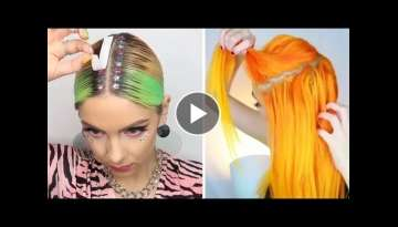 NEW Hair Color Transformation - 10 Amazing Beautiful Hairstyles Tutorial Compilation!