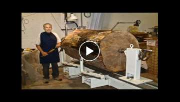 Dangerous Biggest Wood Lathe Chainsaw Work - Fastest CNC Technology
