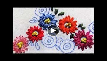 Hand Embroidery- Lazy Daisy Stitch- Flowers