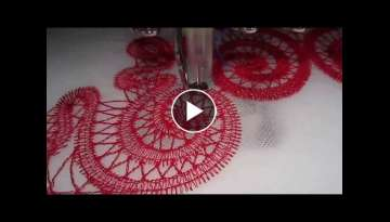 Stitching Freestanding Lace on Embroidery Machine