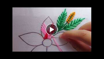 hand embroidery two color modern embroidery flower ,fancy flower design