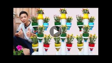 Amazing Plastic Bottle Tower Pots, DIY Plastic Bottle Garden Ideas for Home