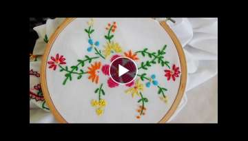 Hand Embroidery: Flower Stitch (Bullion Lazy, French Knot...)