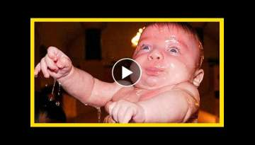 Funny Baby Plays Water Fail