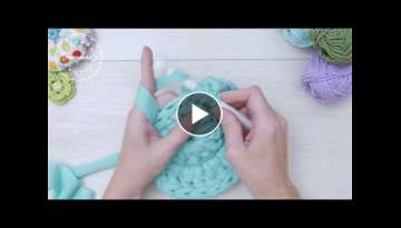 Crochet with thick yarn