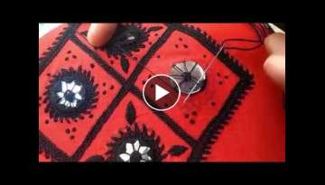 Hand Embroidery: Phool Sheesha/flower mirror stitch