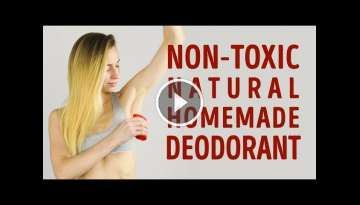 How to make your own non-toxic homemade deodorant l 5-MINUTE CRAFTS