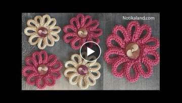 DIY Tutorial VERY EASY How to Crochet Flower - Flowers for decor