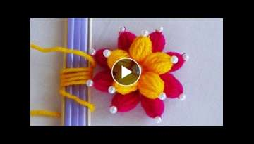 Hand Embroidery: Easy Trick to Make Double Layered Flowers