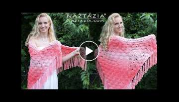 Crochet Beachy Keen Shawl - DIY Tutorial (It's Peachy Keen too!)
