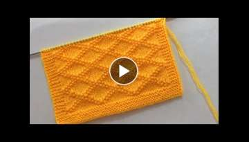 Beautiful Knitting Stitch Pattern For Babies Blanket/Sweater