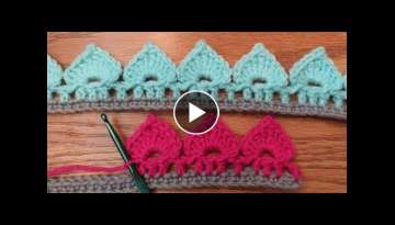 Crochet Spades Stitch Border