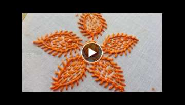 How To Make Hand Embroidery Flower Stitching