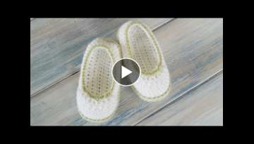 (Crochet) How To - Crochet Pretty Picot Baby Newborn Booties