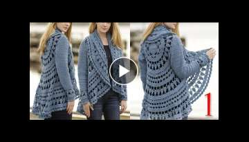 Crochet cardigan for winter and summer part 1