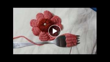 Wow Amazing Trick Wool Flower Hand Embroidery Design