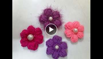 Make crochet puff flower - easy and simple method of flower making