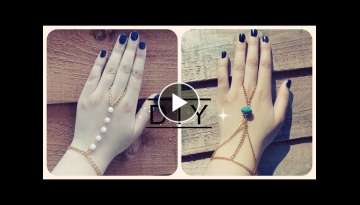 DIY: Hand and ring chain/bracelet [Part 1] - YouTube