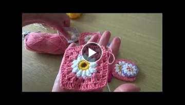 Crochet Daisy Flowers - Daisy centres for granny squares and decorations