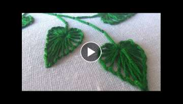 Hand Stitching | Button Hole Stitch Leaves | HandiWorks #27