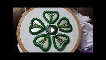 New mirror work flower stitch embroidery design beautiful stitch work