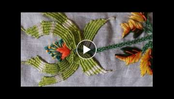 Hand embroidery designs - Embroidery stitches tutorial - Kadai Kamal stitch
