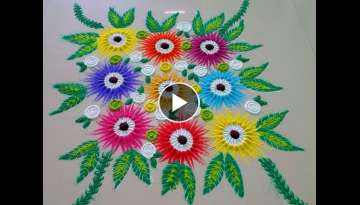 Beautiful buke type rangoli design