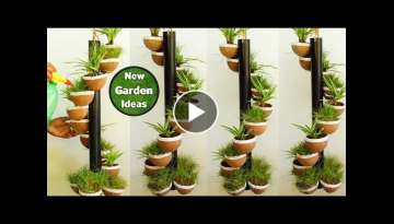 How to Make Coconut Shell Tower pot/Beautiful Tower pot/Easy Making ideas/New Method