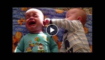 FUNNY TWINS BABY ARGUING OVER EVRYTHING | Funny Babies and Pets