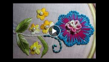 Hand embroidery designs | Embroidery design for dresses | Stitch and Flower-104
