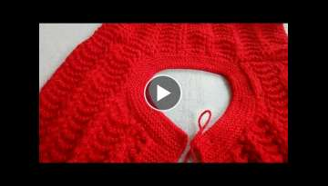 How to knit ROUND NECK in Ladies Cardigan